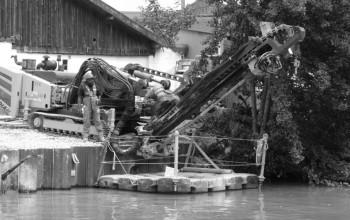 Tirants de quai – Foreuse en rétro - Gournay-sur-Marne (93), Île-de-France
