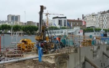 Micropieux – Fondations de grue - Boulogne-Billancourt (92), Île-de-France