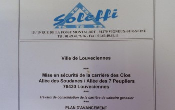 Consolidation carrière calcaire - Louveciennes (78), Région Parisienne